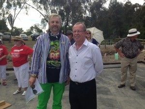 Mayor Allan Aughey and Geoff Brock MP