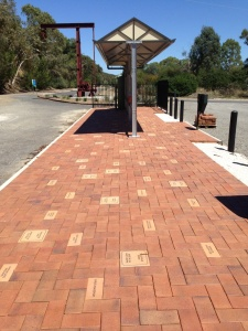 Pavers under the Signboard